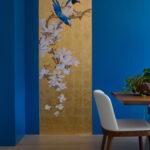 Роспись стен в гостиной «Магнолии»