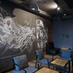 Роспись стен в концептуальном баре «BAD CHEF»