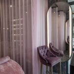 Текстильное оформленных в салоне красоты «My Lashes»