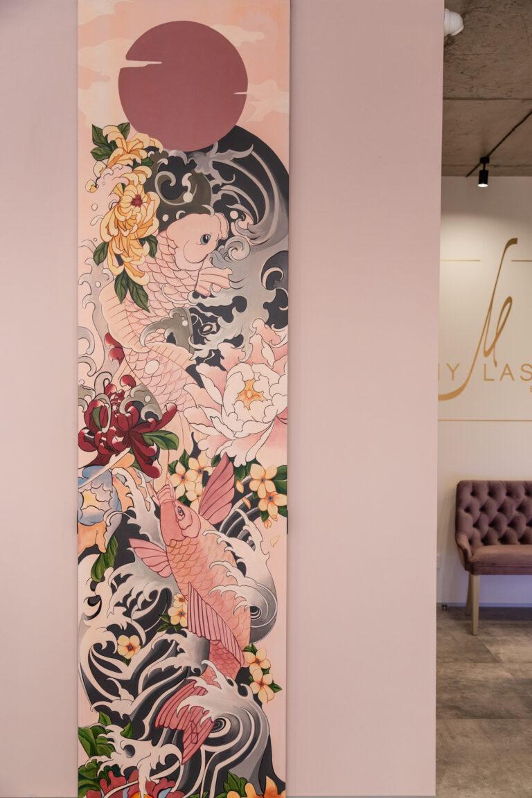 Роспись дверей «В японском стиле»