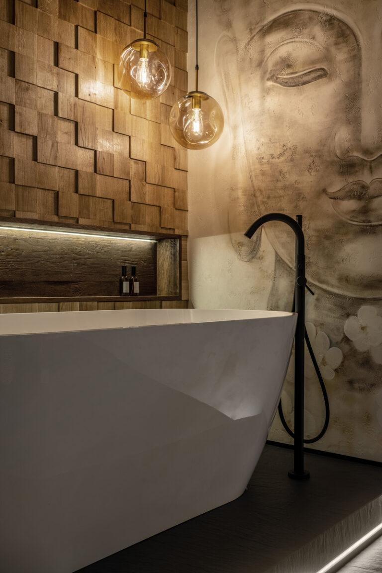 """Розпис стін у ванній кімнаті """"Будда"""""""